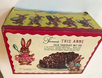 Vintage Thurman's Chocolate Egg Easter Bunny Advertising
