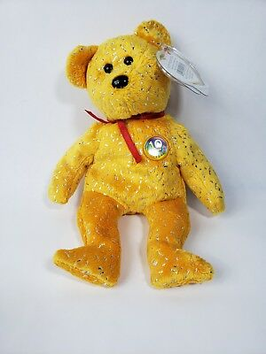 Ty Beanie Babies Bear Name Decade Color Yellow Year 2003 (703)