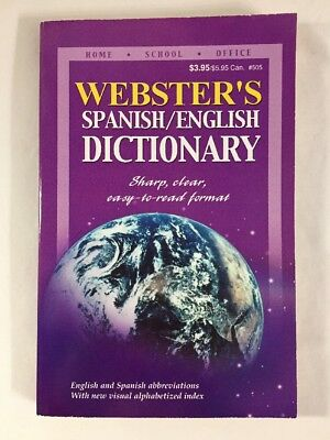 Webster's Spanish/English Dictionary  2003 PB