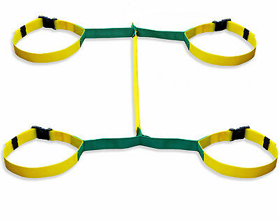 Walkodile® Safety Web (4 child) - Childrens Walking Rope, Kids Safety Reins