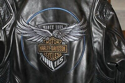 de390f66dae4 HARLEY-DAVIDSON NWT WOMEN S 115th Anniversary Black Leather Jacket ...
