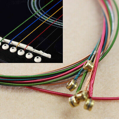 Rainbow Acoustic Guitar Strings Steel Material Musical Instrument Parts E-A