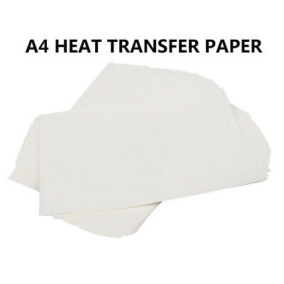 100 pcs A4 Sublimation Heat Transfer Paper for Polyester Cotton T- Shirt