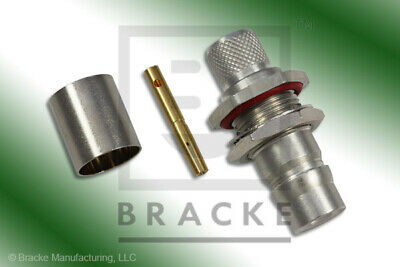 QN Female Bulkhead Connector Crimp RG214 BRACKE BM60602
