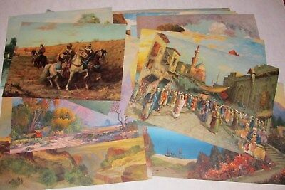 36 Vintage Lithographs Prints of Paintings 1920's Litho Various Artist & Themes