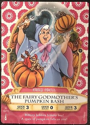 Sorcerer of the Magic Kingdom Card #18 The Fairy Godmother's Pumpkin Bash +2 New