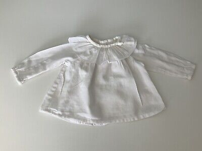 Chloe Baby Girls Shirt, Top, Size Age 9 Months, White, Vgc