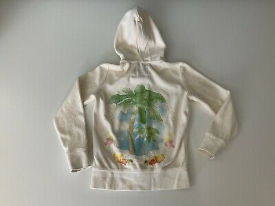 Juicy Couture Girls Hoodie, Jumper, Size Age 5, Cream, Vgc