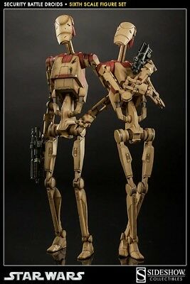 Sideshow Star Wars Security Battle Droids Pack 1/6 Scale Hot Toys