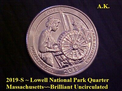 2019-S ~ Lowell National Park Quarter Massachusetts~~Brilliant Uncirculated ~BU