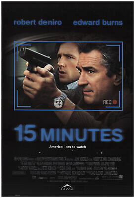15 Minutes 2001 27x40 Orig Movie Poster FFF-73727 Rolled Robert De Niro