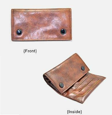 AUS Brown Leather Cigarette Tobacco Pouch Bag Case Filter Rolling Paper SMOKING