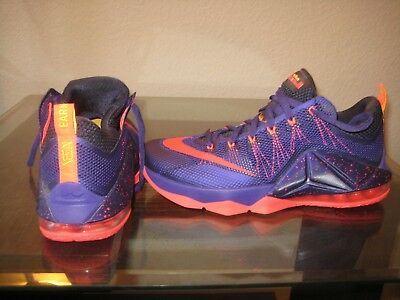 finest selection 4699e f2397 Nike Lebron XII Court Purple   Bright Crimson Men s Low Basketball Shoes  Size 12