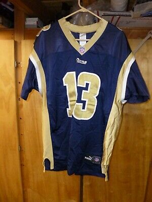 buy popular cbc9f b8cea PUMA NFL RAMS Warner #13 Football Jersey Authentic Equipment Size 52