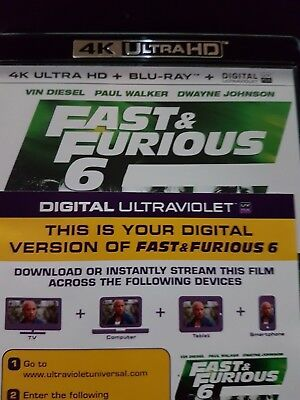 Fast & furious 6 - Ultraviolet Code from a 4k UHD Bluray