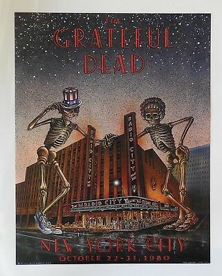 Grateful Dead Radio City Music Hall 1980 First Printing