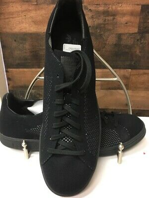 nouveau concept ea43d a4fb1 NEW NWT ADIDAS Mens Stan Smith PK Prime Knit Triple Black Tennis Shoes  S80065 13