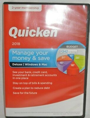 Quicken Deluxe Manage Your Money & Save 2018 2-year Membership (Windows & Mac)