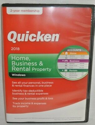 Quicken Home, Business & Rental Property 2018 with 2-year Subscription- NEW
