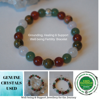 Fertility Healing Grounding Support PCOS,IVF Pregnancy Protection Bracelet
