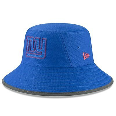 ca32c5beda6 New York Giants NFL New Era Men s Sideline Training Camp Blue Bucket Hat -  NWT