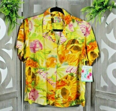 d6a62b24 ... Target Ukulele Guitar Rayon Hawaiian Shirt Mens Sz Small Slim Fit.  $29.99 Buy It Now or Best Offer 9d 18h. See Details. Jams World Women's  Yellow ...