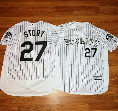 new style 1ff81 2fcff MEN'S MLB COLORADO Rockies Trevor Story Majestic Flex Base Jersey Size 48 XL
