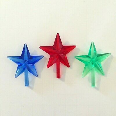 Ceramic Christmas Tree CLASSIC STAR TOPPERS MEDIUM STARS RED GREEN BLUE