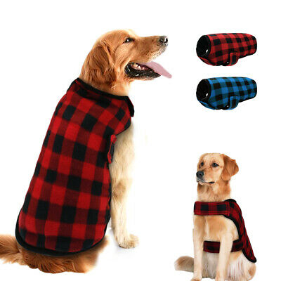 Pet Dog Warm Fleece Vest Jackets Coats Winter Small Medium Large Dogs Clothes