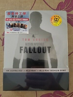 Mission: Impossible Fallout 4K Ultra HD Blu-ray Steelbook 3-Disc (HKG Ver)