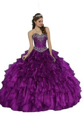 13eb6b0aa42 Purple Ball Gown Quinceanera Dresses 2018 Formal Prom Party Pageant For 15  Years
