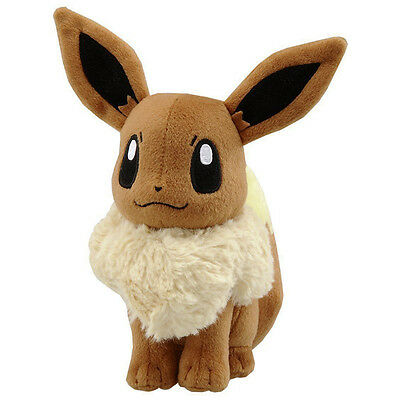 "6"" Pokemon Eevee Pocket Monster Large Plush Toy Stuffed Doll Gift"