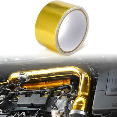 NEW 5m Aluminum Foi Wrap Barrier Tape Heat Shield Roll Exhaust Car Protection