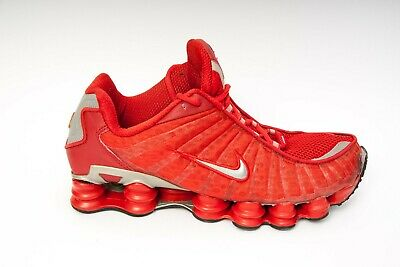 uk availability 5937b b925f RARE NIKE SHOX TL1 Men s Running Athletic Shoes RED SILVER 305463 661 US12   46