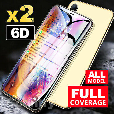 6D Full Cover iPhone XS XR 8 7 6 Plus Screen Protector Tempered Glass for Apple