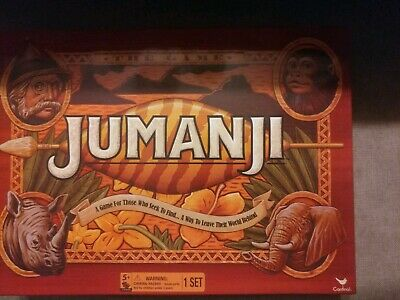 JUMANJI Wood Play Pieces BOX BOARD GAME Full Sized CARDINAL 2017 EDITION