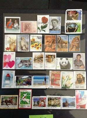 Over 90 All Different RECENT AUSTRALIAN stamps Used #8