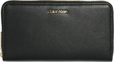 c7c90ab5a2 CALVIN KLEIN WOMEN'S Misha Large Trifold Wallet Purse - Black ...