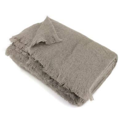 Couverture 180x220 Laine Mohair 320g/m² THESEE Marron Taupe