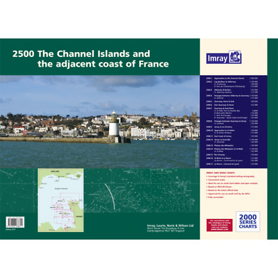 PACK CARTES MARINE IMRAY 2500 CHANNEL ISLANDS AND THE ADJACENT COAST OF FRANCE a