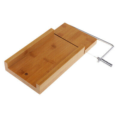 Natural Wooden Stainless Steel Soap Cutter Soap Cutting Tool w/Wire Slicer