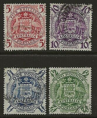 PRE-DECIMAL    COAT of ARMS SET of 4      NICELY USED