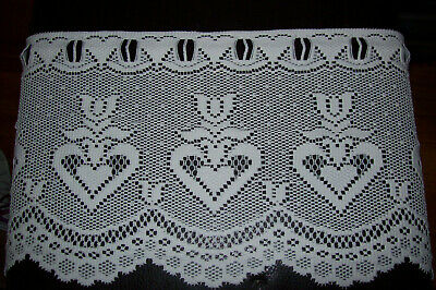 Jc Penney Ivory Curtains Valance Sheer Kitchen Dining Crocheted Lace 57 X12 4 49 Picclick
