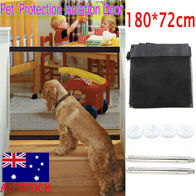 HOT Magic Mesh Gate Pet Dog Net Door Barrier Safe Guard Fence Enclosure