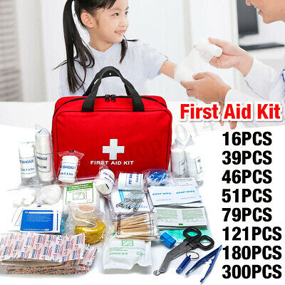 8 Size First Aid Medical Emergency Kit Carry Bag Pouch Camping Car Home Travel