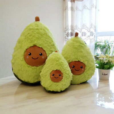 Green Avocado Plush Pillow Stuffed Dolls Cushion Kids Children Fruits Toys Gifts