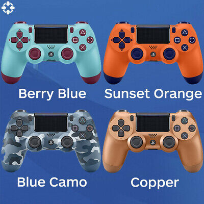Sony Playstation 4 Controller  PS4 Wireless Gamepad Berry Blue & Sunest Orange