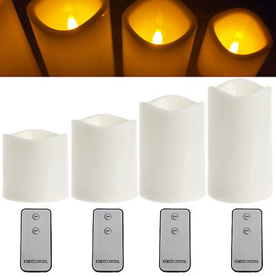 Remote Control Romantic Flameless LED Candles Tealight Light  Party WeddingDecor