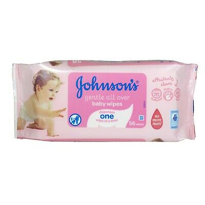 Johnsons Baby 56 Gentle All Over Baby Wipes X 6 Packs (336 Wipes)