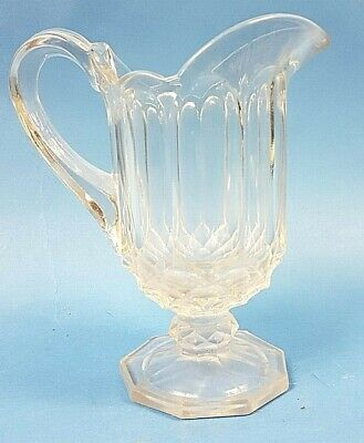 Pretty Vintage Art Deco Thick Glass Milk Jug Chippendale Style by Davidson